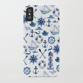 Nautical Watercolor iPhone Case