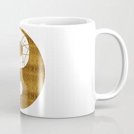 Abstract YIN AND YANG Taijitu Symbol | gold Coffee Mug