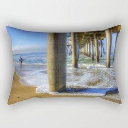 Goin' Surfin' Huntington Beach Pier Rectangular Pillow