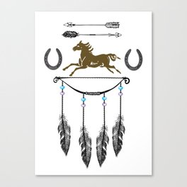 Horse Feathers Canvas Print