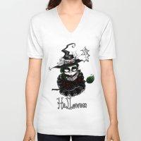 oz V-neck T-shirts featuring Oz - Green by artlandofme