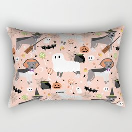 Pitbull halloween costumes pet portrait fall october cute trick or treat pitbulls Rectangular Pillow