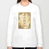 bible verse Long Sleeve T-shirts featuring Steampunk Bible Verse John 3:16 by Whimsy and Nonsense