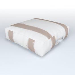 Medium Brush Strokes Vertical Nude on Off White Outdoor Floor Cushion