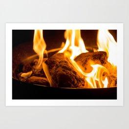 Lava Rock Fire - Campfire Vibes Art Print