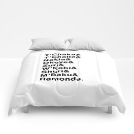 Black Panther Character Names Comforters