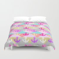 anchors Duvet Covers featuring Anchors by Ornaart