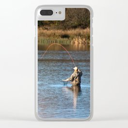 Gone Fishing 2 Clear iPhone Case