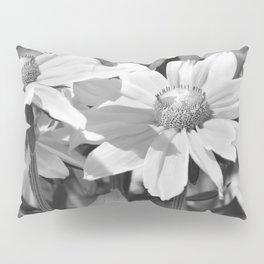 Flower black and white 0148 Pillow Sham