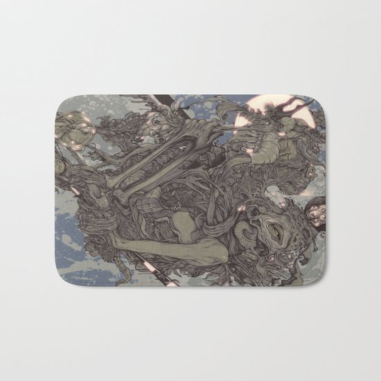 REMEMBER MIND (full moon) Bath Mat