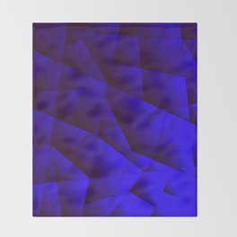 Dark contrasting blue fragments of crystals on triangles of irregular shape. Throw Blanket