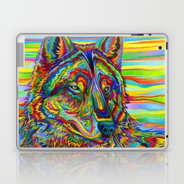Colorful Psychedelic Rainbow Wolf Laptop & iPad Skin