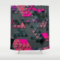 the thing Shower Curtains featuring One Thing by Bakmann Art