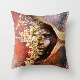 Red Mask Throw Pillow