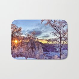 Icy Forest Awakens Bath Mat