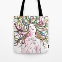 venus Tote Bags featuring venus by Beth Jorgensen