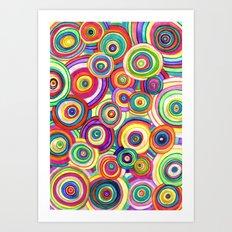 uneven universe Art Print