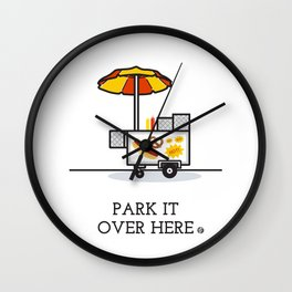 Park It Over Here Wall Clock