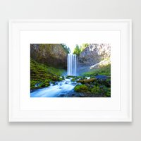 waterfall Framed Art Prints featuring Waterfall by 2sweet4words Designs