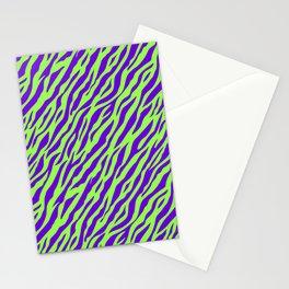 Vintage Retro 1980s 80s New Wave Zebra Stripe Pattern Stationery Cards