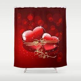 Ich liebe Dich Shower Curtain