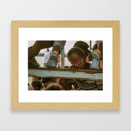 Local Dominican Boy Framed Art Print