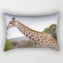 Beautiful close-up of Giraffe in South Africa Rectangular Pillow