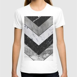 Shimmering mirage - grey marble chevron T-shirt
