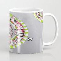 steve jobs Mugs featuring Mayan Fear : Steve Jobs by Luce Raggi