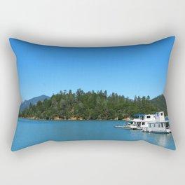 Houseboats On Lake Shasta Rectangular Pillow