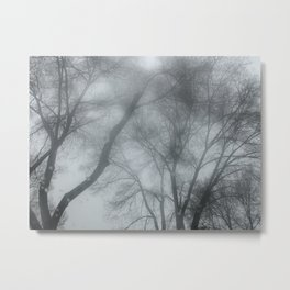 Blue storm trees Metal Print