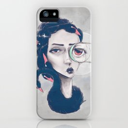 Rare Royal through the looking glass iPhone Case