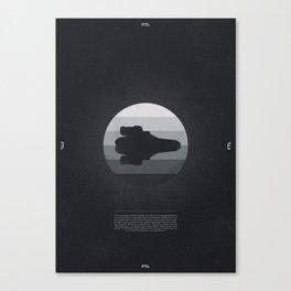 Faster Than Light - The Kestrel Canvas Print