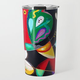 Taino Dance - Puerto Rican and Caribbean Vejigantes artwork Travel Mug