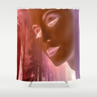 grace Shower Curtains featuring Grace by Robin Curtiss