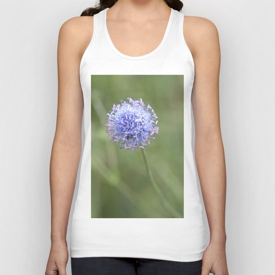 Blue LOVE - Flower Flowers Floral Spring on #Society6 Unisex Tank Top