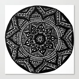 Tripped Out Snowflake Canvas Print