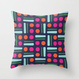 Scandinavian Nordic colourful Printed Leggings Throw Pillow