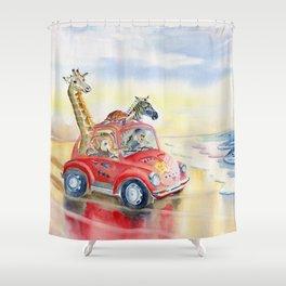 Go To The Beach Shower Curtain