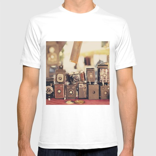 Old Cameras (Vintage and Retro Film Cameras Collection) T-shirt