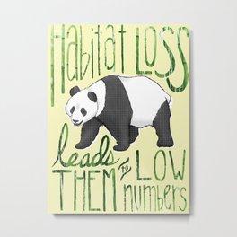 Giant Panda: Critically Endangered Metal Print