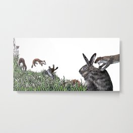 The Weasel War Dance Metal Print