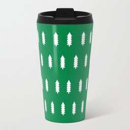 Christmas Trees minimal modern green and white holiday christmas decor Travel Mug