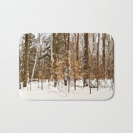 Maple Beech Forest in the Winter Bath Mat