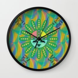 Kachina Weave Wall Clock