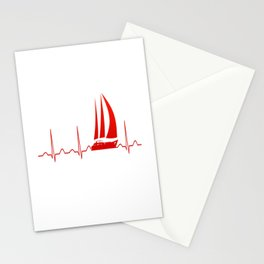 Sailing Heartbeat Stationery Cards