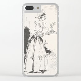 Arthur Rackham - Dickens' Christmas Carol (1915): Mrs Cratchit with Christmas Pudding Clear iPhone Case