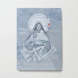 Mary Star of the Sea Metal Print
