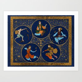 Amino Acid Horoscope Art Print