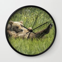 My Foot's So Pretty, Oh So Pretty - Bear Cubs, No. 2 Wall Clock